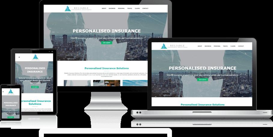 wordpress website reliable insurance